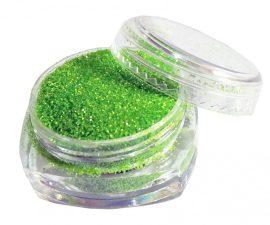 Neon zöld csillámpor - sötétebb (5 ml) - (S0501A)
