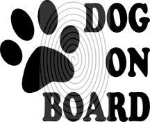 Dog on Board - autómatrica, autódekor