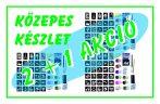2 + 1 AKCIÓ - Közepes csillámtetoválás készlet (42 db-os - 30 db sablon/10 csillámpor)
