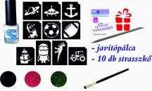 FIÚS mini csillámtetoválás készlet (15 db-os - 10 sablon / 3 csillámpor)