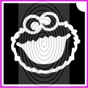 Sütiszörny fej, Cookie Monster (csss0376)
