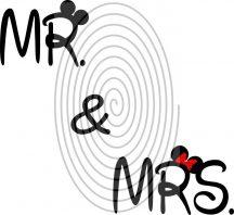Mr & Mrs (2 színű) - falmatrica