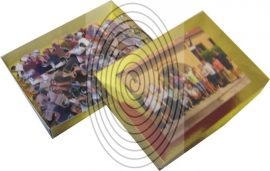 Karton díszoboz puzzle-hoz vagy memóriajátékhoz