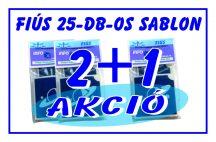 2 + 1 AKCIÓ - Fiús -  csillámtetoválás SABLON készlet - 25 darabos