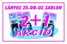 2 + 1 AKCIÓ - Lányos -  csillámtetoválás SABLON készlet - 25 darabos