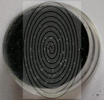 Fekete (koromfekete) csillámpor (5 ml) - (HF66-1 - B1000)