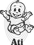 Baby boy in car (figurás, egyedi névvel) - autómatrica, autódekor