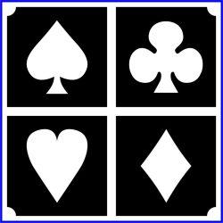 Kártya szimbólum - pikk, treff, kőr, káró (css_mini4_0027)