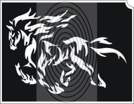 Tűzes ló sziluett (css_orias_0005)