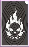 Lángoló koponya, halálfej (csss0129)