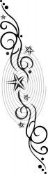 Inda csillagokkal - falmatrica