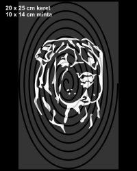 Shar Pei fej - festősablon