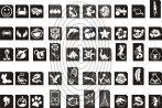 Csillámtetoválás SABLON készlet - 100 darabos