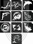 Delfinek -  csillámtetoválás SABLON készlet - 10 darabos