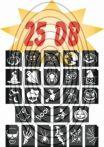 HALLOWEEN -  csillámtetoválás SABLON készlet - 25 darabos